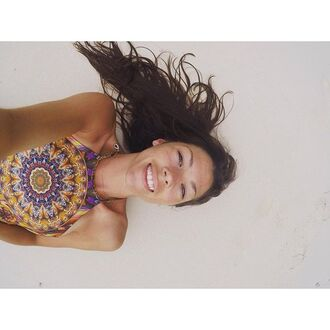 top liberated heart psychedelic psychedelia trippy doof halter neck coachella festival