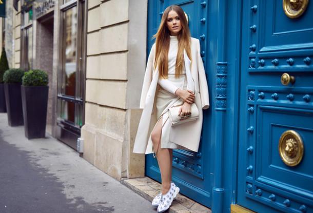 kayture blogger coat shoes skirt bag