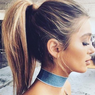 jewels denim choker prettylittlething necklace choker necklace summer accessories fall accessories