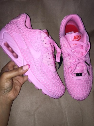 shoes nike air max 90 pink sneakers pink