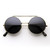 Steampunk Vintage Inspired Retro Round Circle Flip Up Sunglasses 8795                           | zeroUV