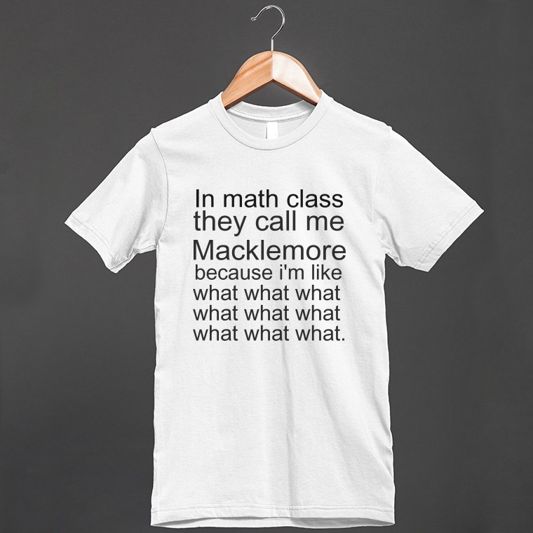 macklemore math | Fitted T-shirt | Skreened