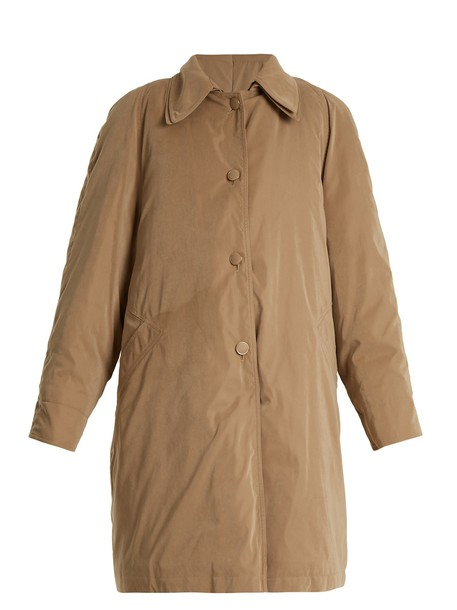 coat layered beige