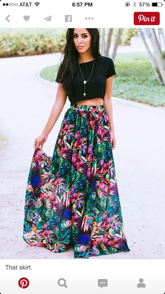 skirt floral flowers maxi skirt tumblr outfit floral skirt fashion flower skirt