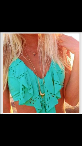 swimwear blue, aqua, turquoise, sea blue jewels