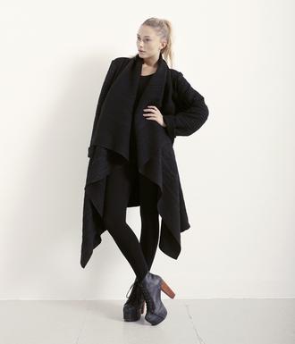 high heels jacket black