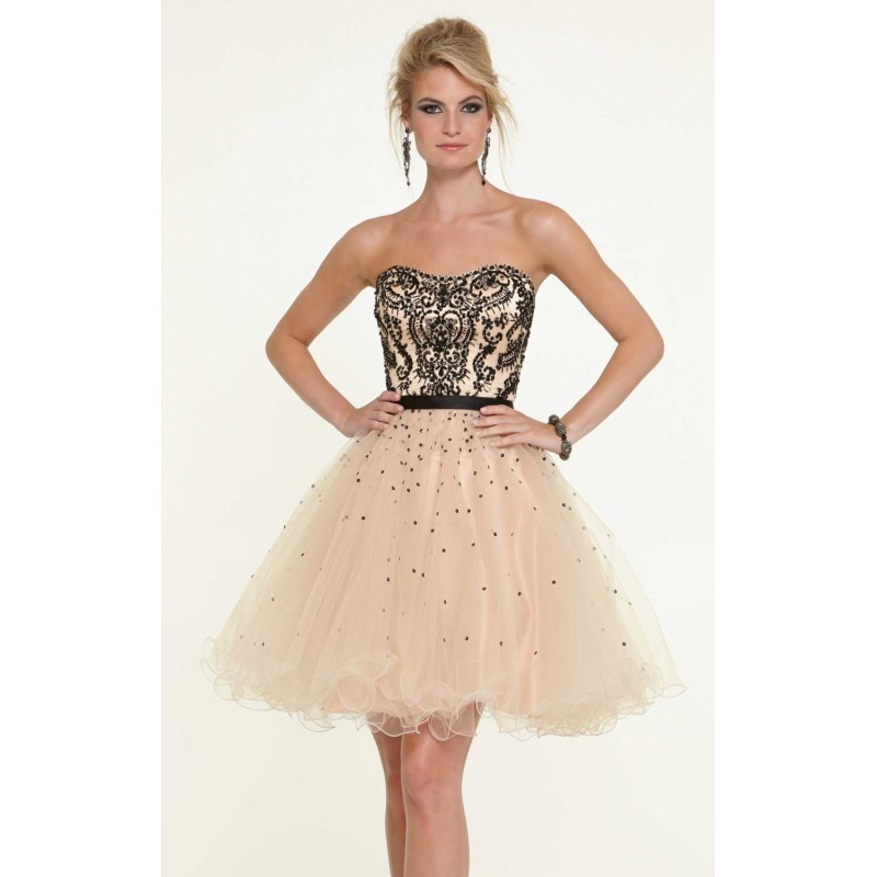 Strapless Sweetheart Dress by Sticks and Stones by Mori Lee 9320 - Bonny Evening Dresses Online
