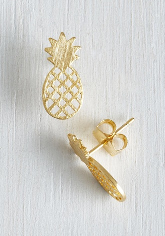 jewels earrings pineapple