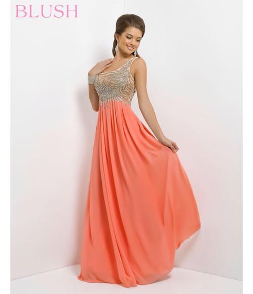 prom dress salmon dresses