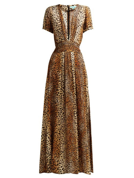 Melissa Odabash - Lou Cheetah Print Maxi Dress - Womens - Leopard
