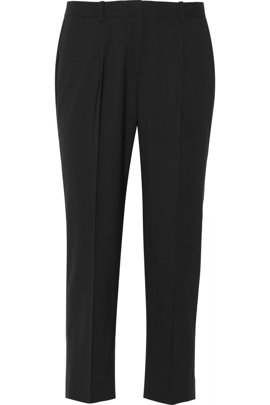 Theory Jorah cropped stretch-wool straight-leg pants – 55% at THE OUTNET.COM