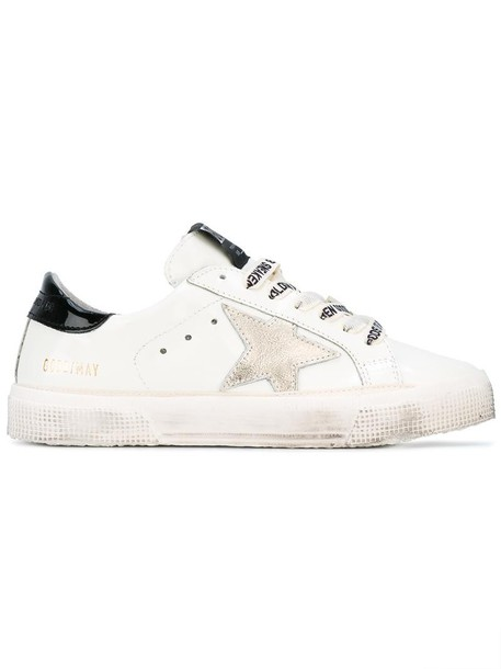 GOLDEN GOOSE DELUXE BRAND women sneakers leather white wool shoes