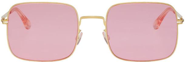 Mykita Gold and Pink Studio 7.1 Sunglasses