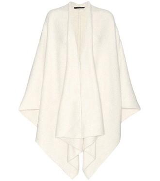 cape silk white top