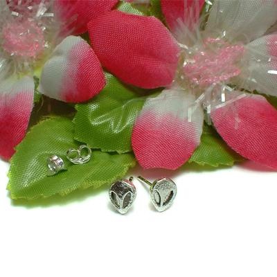 925 sterling silver alien stud earrings #624