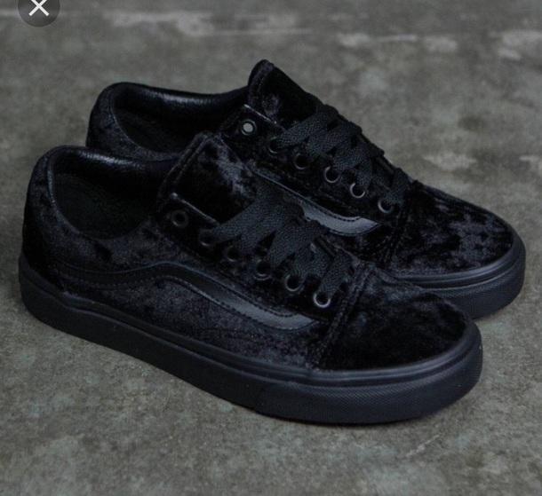 4aa093f9a9c2a8 shoes vans velvet oldskool cute low