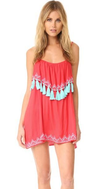 Tiare Hawaii Holter Mini Dress - Pink