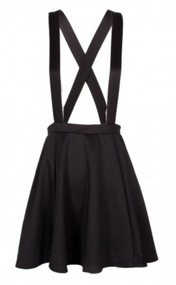 Skirt: strappy skirt, overalls, high waisted skirt, suspenders ...
