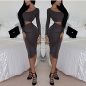 skirt,black,blue,red,grey,green,top,long sleeve crop top,crop tops,long skirt,two-piece,two piece dress set,any color,classy,classic,plain crop top,plain black,plain top,midi,midi dress,long sleeves,long sleeve dress,bodycon,bodycon dress,party dress,sexy party dresses,sexy,sexy dress,party outfits,sexy outfit,spring dress,spring outfits,fall dress,fall outfits,classy dress,elegant dress,cocktail dress,cute dress,girly dress,date outfit,birthday dress,clubwear,club dress,homecoming,homecoming dress,wedding clothes,wedding guest,engagement party dress,formal dress,formal event outfit,romantic dress,romantic summer dress