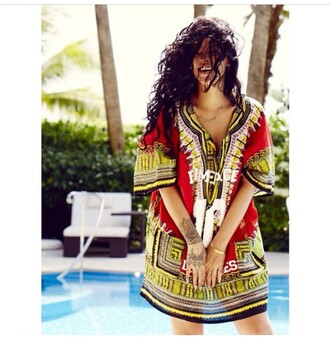 blouse rihanna dashiki top african print