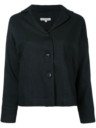 jacket women black wool