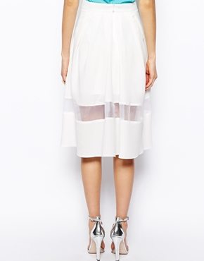 ASOS | ASOS Midi Skirt With Sheer Hem at ASOS