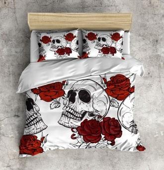 home accessory bedding skull roses