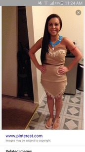 dress,halloween costume,native american,Pocahontas,costume