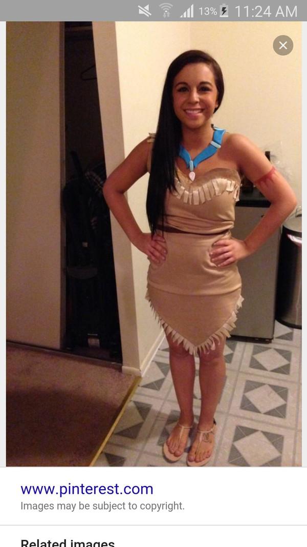 dress halloween costume native american Pocahontas costume
