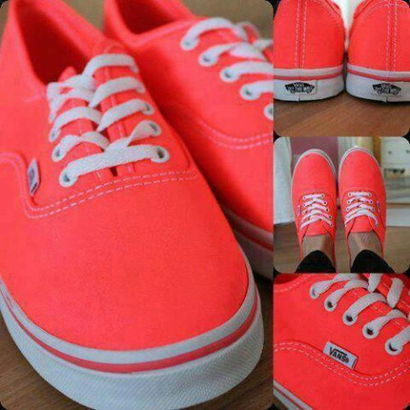 orange shoes neon orange neon vans