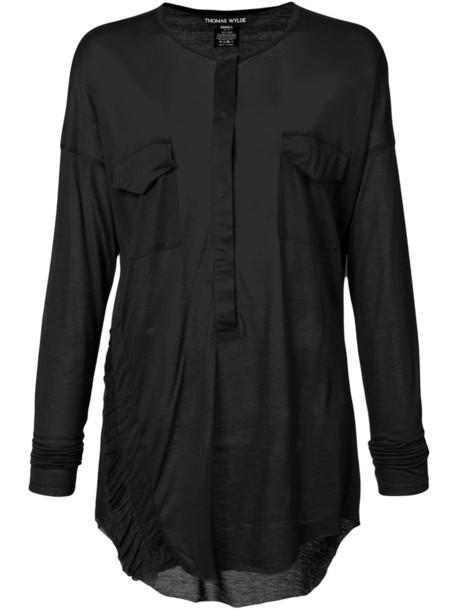Thomas Wylde blouse long sheer women black top