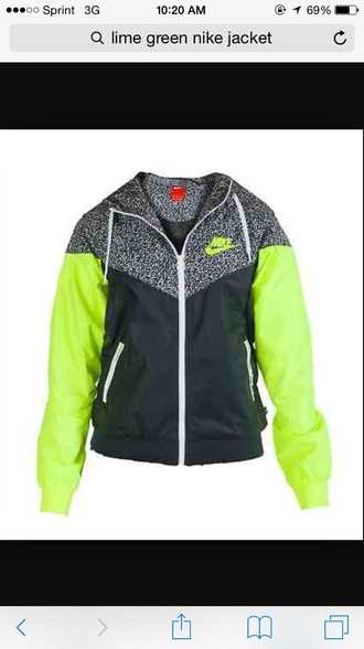 jacket nike jacket windbreaker green jacket