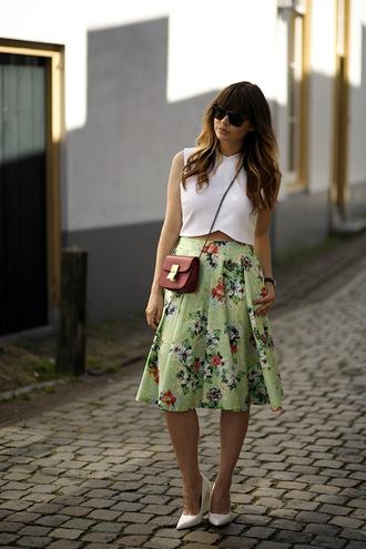 fashion zen sunglasses top skirt shoes jewels bag