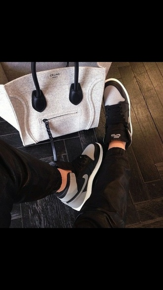 bag shoes celine nike nike grey and white black grey paris