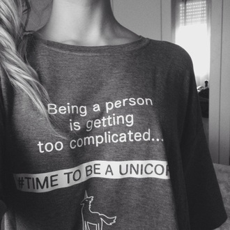 unicorn sign being person is gettin too complicated time be weheartit girly wishlist sweater
