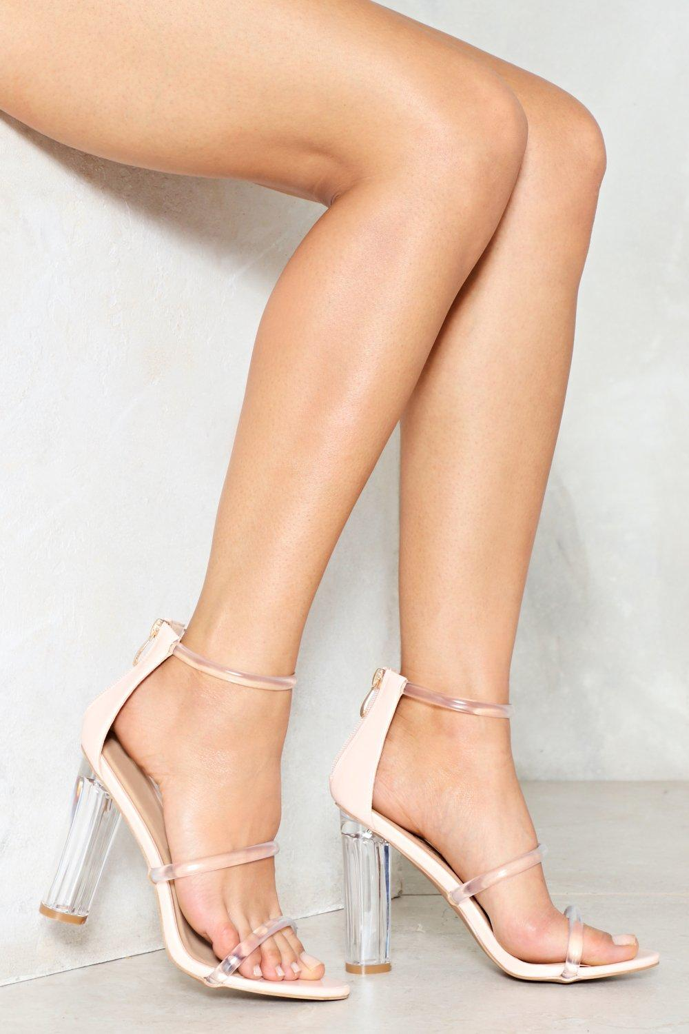 Open Invitation Lucite Heel | Shop Clothes at Nasty Gal!