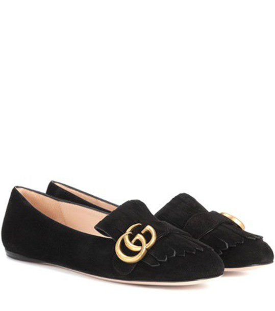 gucci loafers suede black shoes