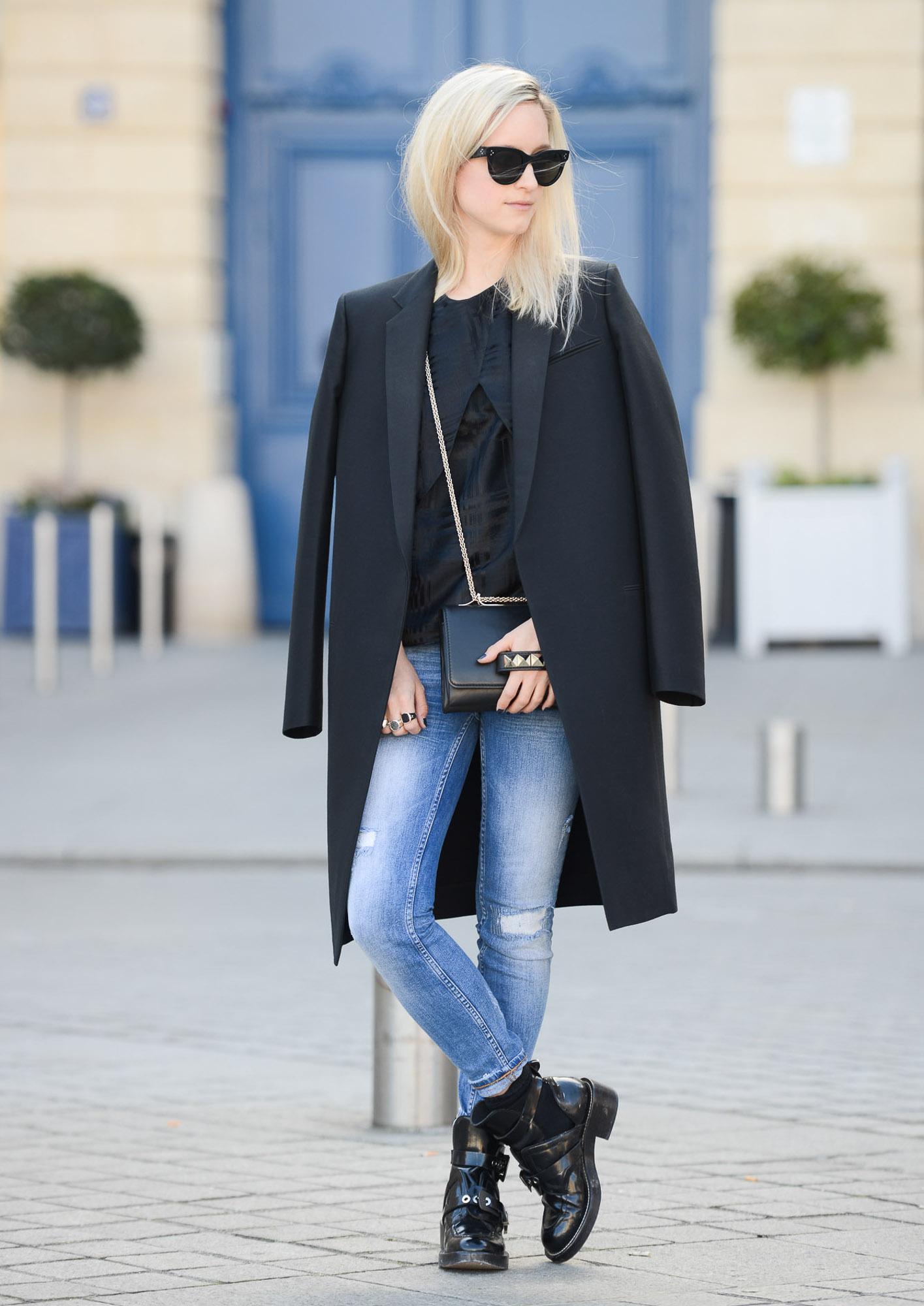 Valentino-Black Va Va Voom Flap Bag- Departement Feminin