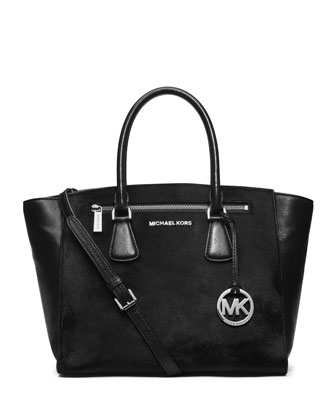MICHAEL Michael Kors  Large Sophie Calf-Hair Satchel - Michael Kors