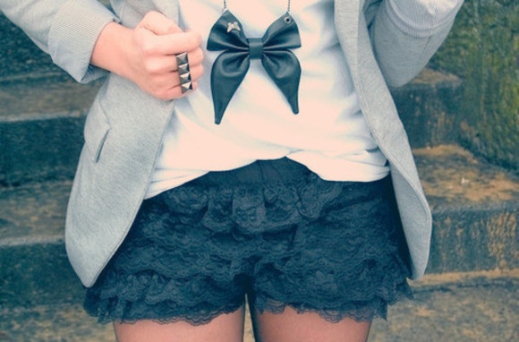 shorts jewels lace shorts lace black dresses