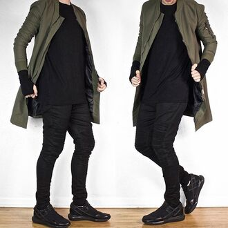 jacket maniere de voir longline bomber jacket longline bomber khalo khaki 36683