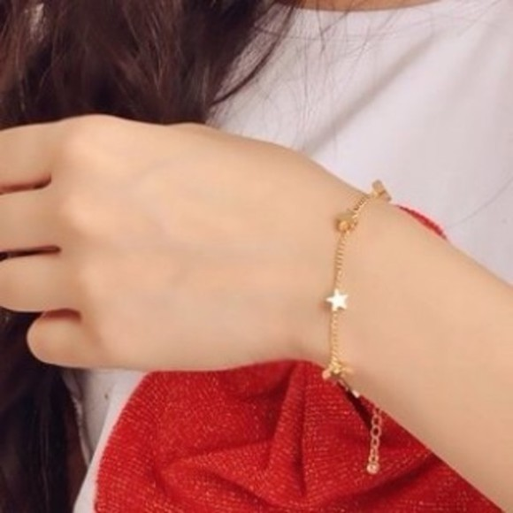 jewels stars bracelets gold bracelet cute