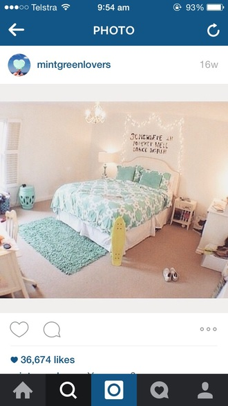 home accessory mint bedroom bedding