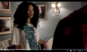 shirt blue white tiana celebreties hakeem mia paris choker necklace empire serayah