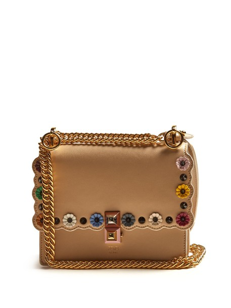 Fendi cross bag leather beige