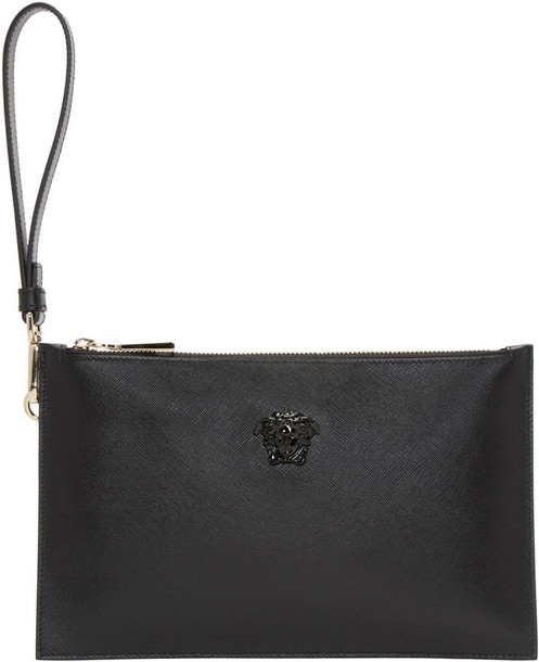 3d307a307296 Versace Black Leather Small Medusa Pouch - Wheretoget