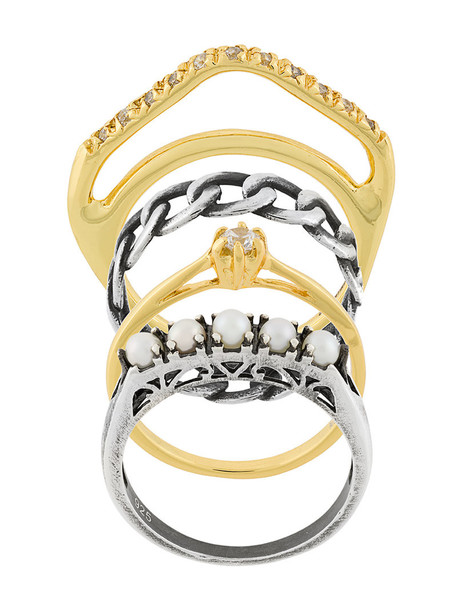 IOSSELLIANI women silver grey metallic jewels