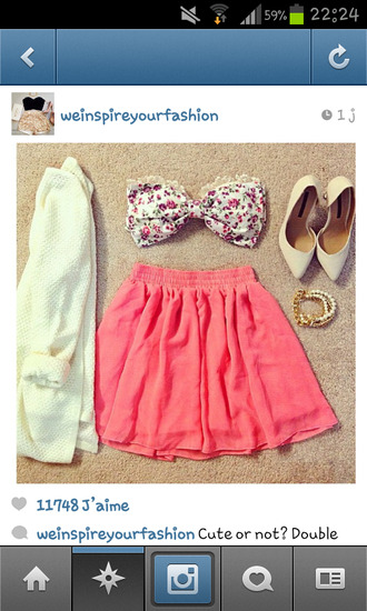 top shirt pink bows flowers crop tops floral flowered top