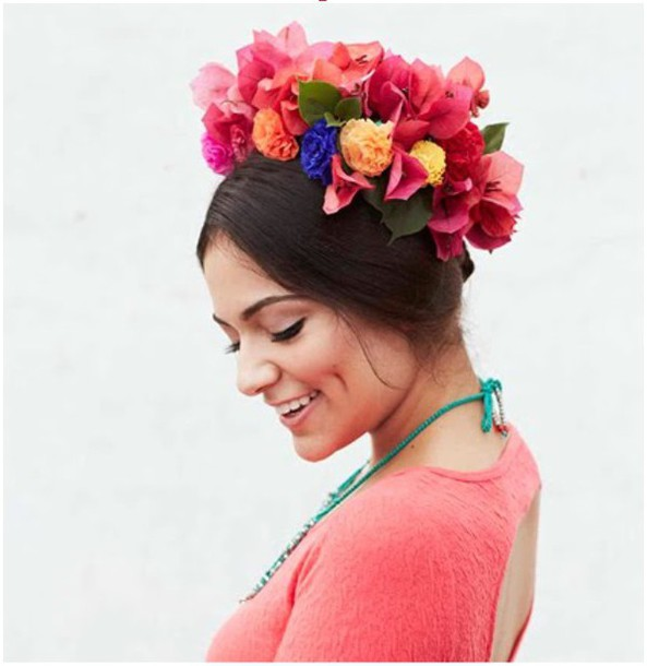 hair accessory flower crown hipster