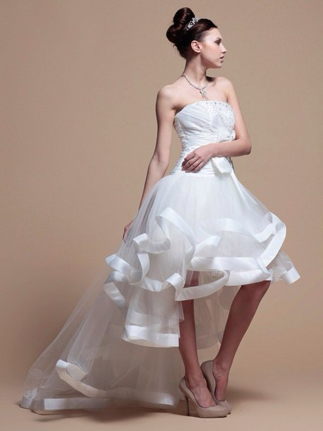 dress white gown tulle gown couture